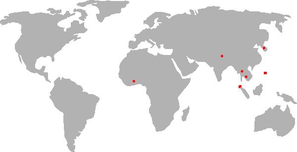 map of world, flattened