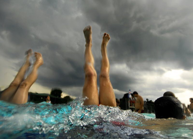 Pool and Rain Feature July 2 2008. (Concord Monitor photo/Mandy McConaha)